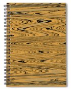 Orange And Black Abstract Spiral Notebook