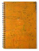 Orange And Brown Spiral Notebook