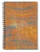 Orange And Gray Abstract Spiral Notebook