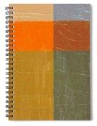 Orange And Grey Spiral Notebook