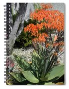 Orange And Pink Exotic Bell Flowers Spiral Notebook
