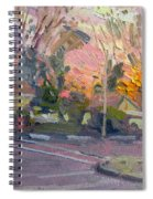 Orange And Pink Sunset Spiral Notebook