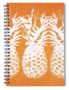 Orange And White Pineapples- Art By Linda Woods Spiral Notebook