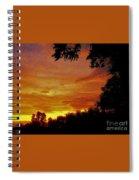 Orange And Yellow Sunset Spiral Notebook