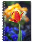 Orange And Yellow Tulip II Spiral Notebook