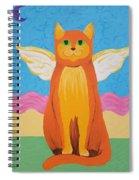 Orange Angel Cat Spiral Notebook
