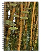 Orange Bamboo Abstract, Reflection On Water Spiral Notebook