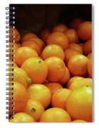 Orange Basket Spiral Notebook
