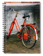 Orange Bicycle In The Street Spiral Notebook