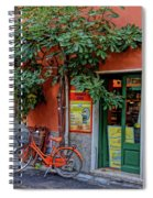 Orange Bicycle Wine Shop Monterosso Italy Dsc02584 Square Spiral Notebook