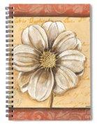 Orange Bohemian Dahlia 1 Spiral Notebook