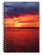 Orange Burst At Daybreak Spiral Notebook