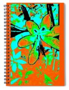Orange Burst Flower Spiral Notebook