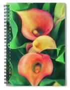 Orange Calla Lily Spiral Notebook
