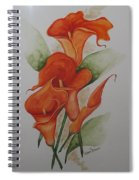 Orange Callas Spiral Notebook