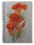 Orange Callas Spiral Notebook