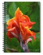 Orange Canna Art Spiral Notebook