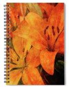 Orange Cluster 9225 Idp_2 Spiral Notebook