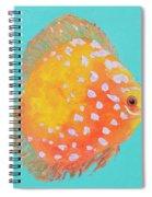 Orange Discus Fish With Purple Spots Spiral Notebook