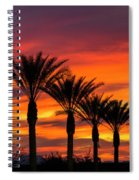 Orange Dream Palm Sunset  Spiral Notebook