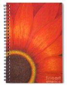 Orange Flower Spiral Notebook