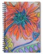 Orange Flowers Spiral Notebook