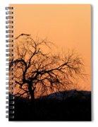 Orange Glow Sunset In The Desert Spiral Notebook