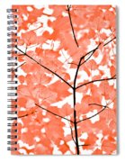 Orange Leaves Melody  Spiral Notebook