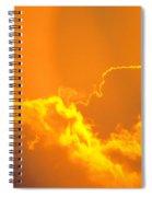 Orange Misty Sky Spiral Notebook