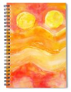 Orange Moons Spiral Notebook