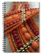Orange Necklace Spiral Notebook