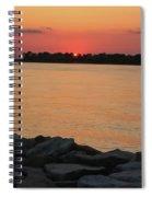 Orange Nite Sky  Spiral Notebook