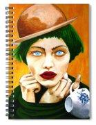 Orange Peel Cupcake Spiral Notebook