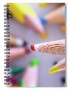 Orange Pencil Spiral Notebook