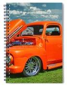 Orange Pick Up At The Car Show Spiral Notebook