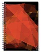 Orange Polygon Pattern Spiral Notebook