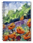 Orange Poppies Spiral Notebook