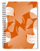 Orange Poster Lilies Spiral Notebook