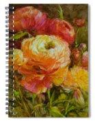Orange Ranunculus Spiral Notebook