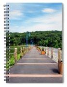 Orange Reservoir Spiral Notebook