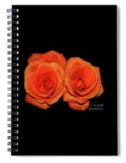 Orange Roses With Hot Wax Effects Spiral Notebook