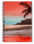 Orange Sky Of Kauai Spiral Notebook