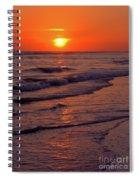Orange Sunset Spiral Notebook