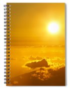 Orange Sunset - Haleakala Spiral Notebook