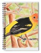 Orange Tanager Spiral Notebook