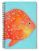 Orange Tropical Fish Spiral Notebook