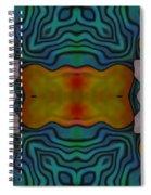 Orange Turquoise Floral Gem Spiral Notebook