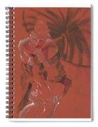 Orange Umbrella Spiral Notebook