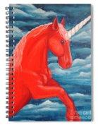Orange Unicorn Spiral Notebook