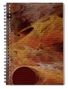 Orange With Texture Spiral Notebook